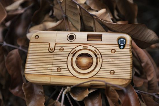 Bamboo iphone case.