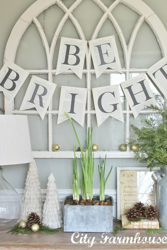 City Farmhouse: Christmas Housewalk 2012- Love the pale colors for Christmas in this home