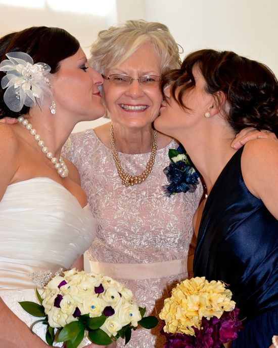 Mother / daughters wedding photo
