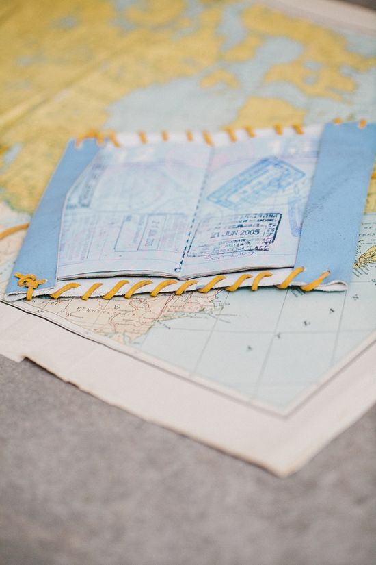 Instructions: Making a leather passport holder.  Rue Magazine (June 2012 Issue).  Photography by The Way We Love.