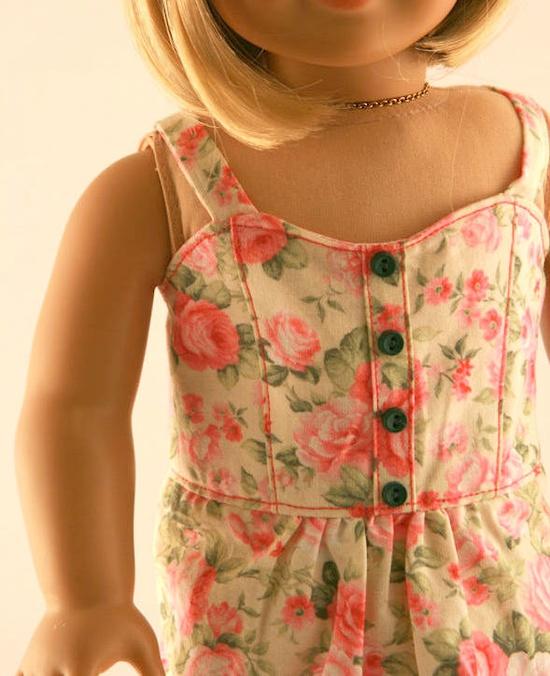 American Girl Doll Clothes - Summer Garden Dress. via Etsy.
