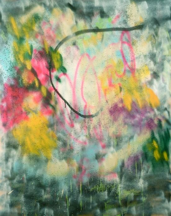 """Saatchi Online Artist: brian tydings; Aerosol Paint, 2012, Painting """"love is in the air"""""""