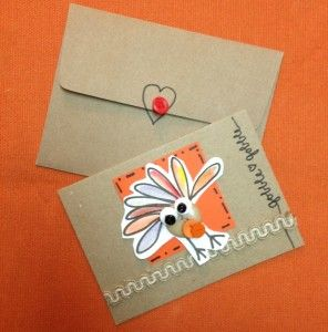 A Handmade Card to Gobble Gobble About with free downloadable doodles, buttons and #gluedots