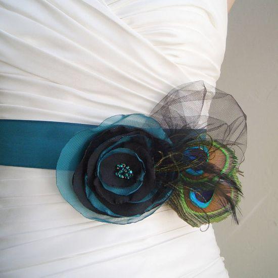 Peacock wedding belt