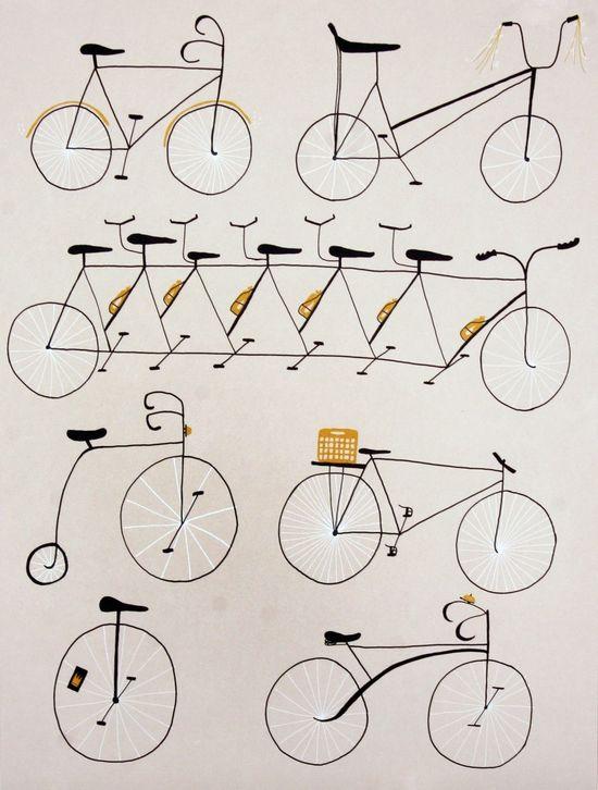 Cycling Print SCREENPRINT SERIGRAPH