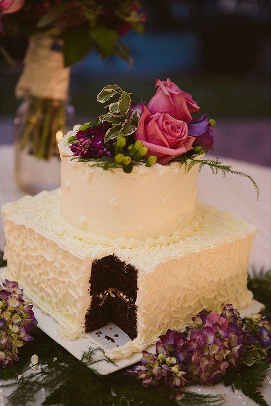 wedding cake with bright florals by nutcracker sweet shoppe www.weddingchicks...
