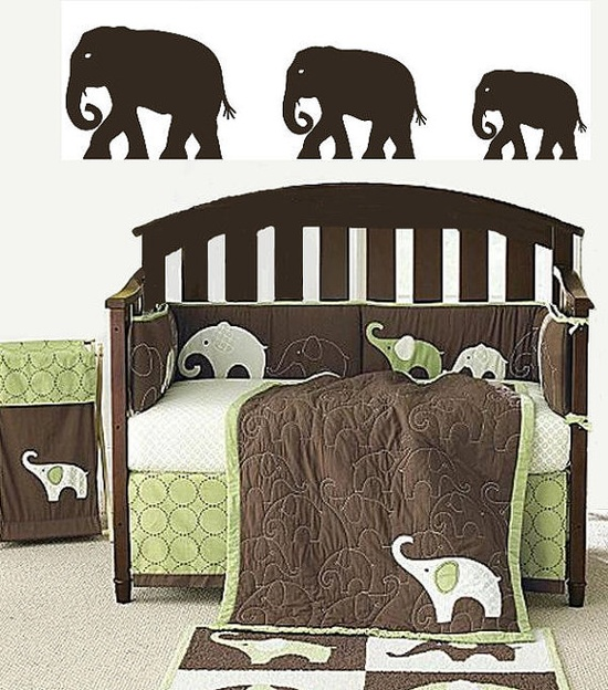 Elephant Wall Accent Art Decals Home Animal Jungle by Coins4Sale, $27.99
