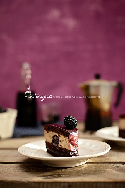 Blackberry-coffe liqueur marbled cake by csokiparany
