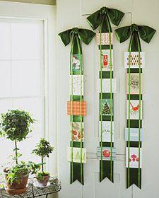 Displaying Christmas cards