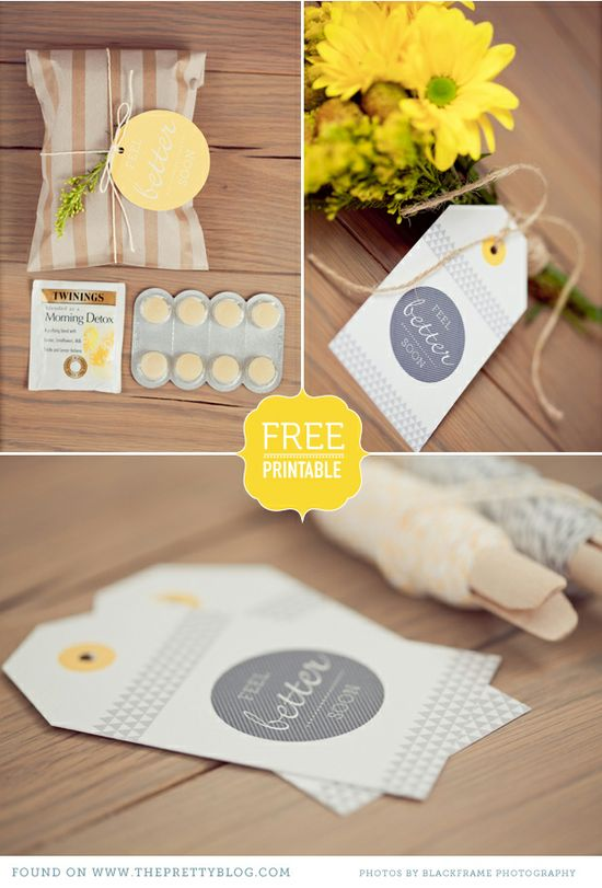 Free printable, get well card and tags. #photogpinspiration