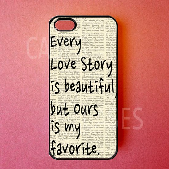 Iphone 5 Case Love Story Iphone Cover Cute Apple by DzinerCases, $14.99