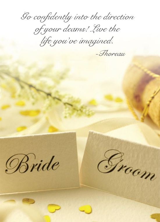 WEDDING QUOTES TO BRIDE AND GROOM image quotes at BuzzQuotes.com