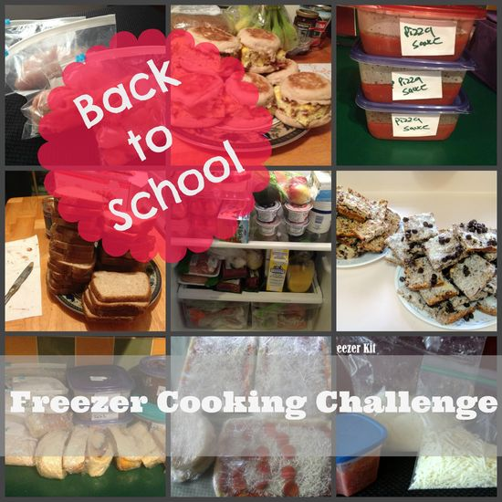 Back to School Freezer Cooking Challenge. Breakfasts, lunches, dinners, and snacks. #BTS #backtoschool #freezercooking Skinny Mom's Kitchen