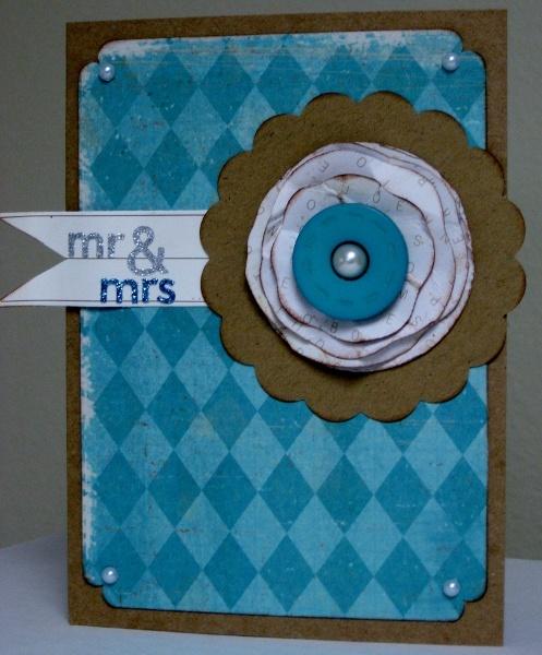 Mr. & Mrs. Crate paper card - Scrapbook.com - #scrapbooking #cardmaking #cratepaper