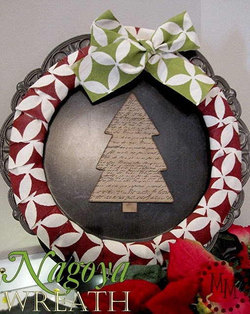 Love this wreath by @Michele @ The Scrap Shoppe!