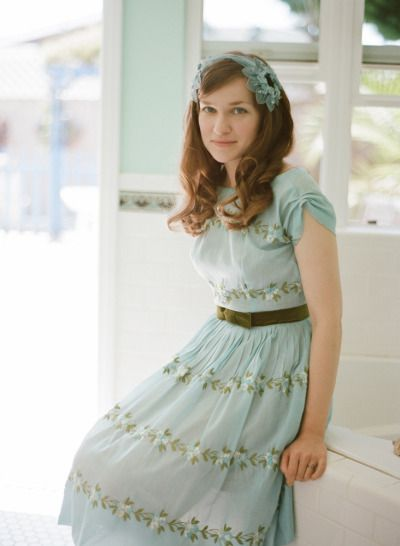 mint blue #bridesmaid dress with a vintage flair Photography by esthersunphoto.com  Read more - www.stylemepretty...