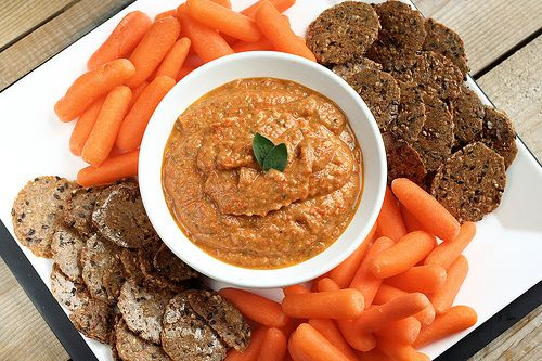 Eggplant and Roasted Red Pepper Dip