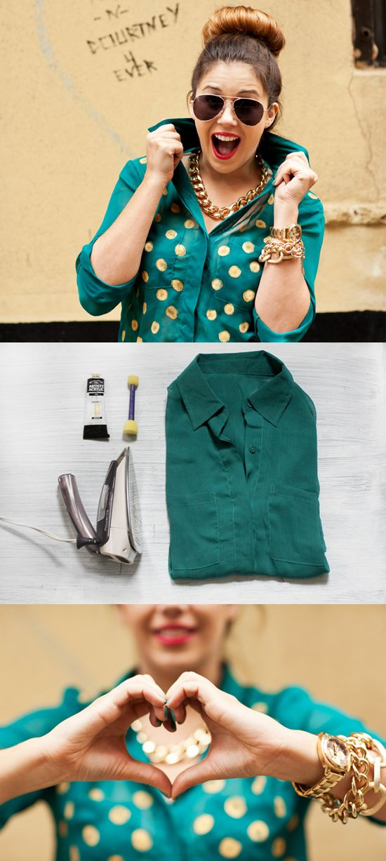 DIY: 12 Fashion Projects   #DIY #fashion #spots #polka #dots #paint