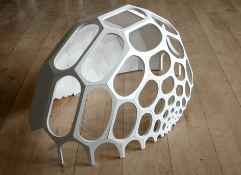 –CNC milled prototype of a spaceplates greenhouse.