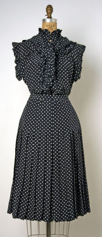 Lovely polka dot dress by Chanel. yes, please.