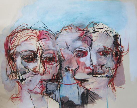 "Saatchi Online Artist: L Verkler; Charcoal, Drawing ""Not a Secret"""