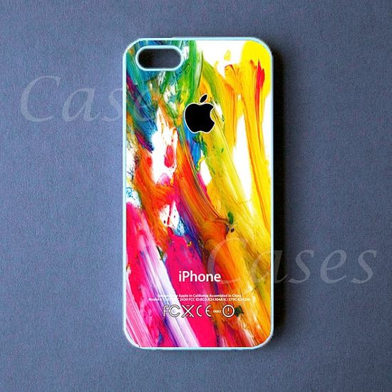 Iphone 5c Case - Iphone 5s Case - Colorful Paint Iphone 5 Cover