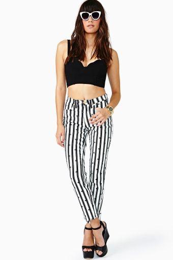 #Versace Striped Jeans #nastygalvintage #vintage