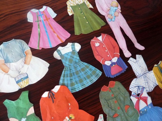vintage paper doll toy