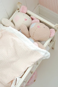 stuffed animals bed