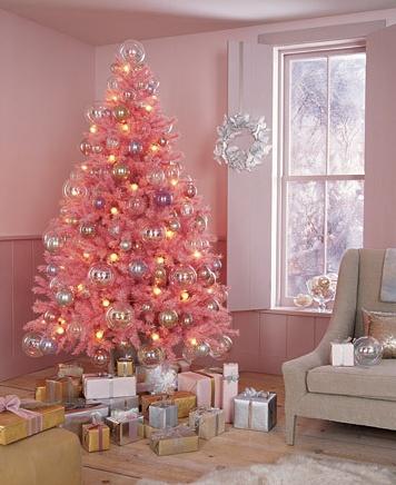 pink christmas martha stewart