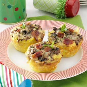 Hash Brown Nests with Portobellos and Eggs....*****5Star Rating....Hash browns make a fabulous crust for these individual egg quiches. They look like you fussed, but are actually easy to make. They've been a hit at holiday brunches and other special occasions.—Kate Meyer, Brentwood, Tennessee