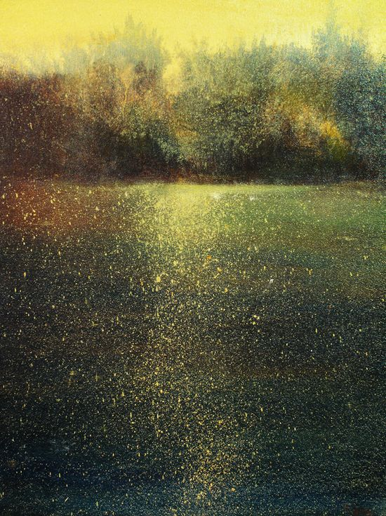 "Maurice Sapiro; Oil, 2012, Painting ""Gold On The Water"""