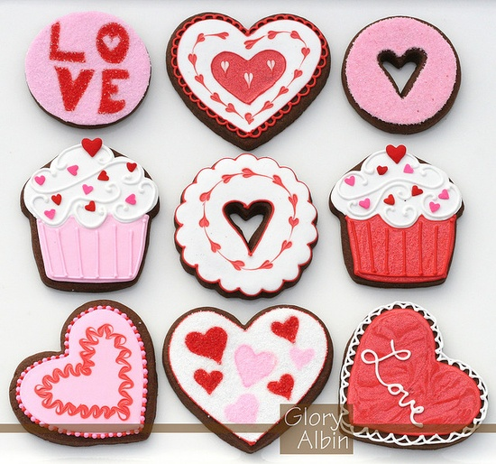 valentines day cookies! so cute