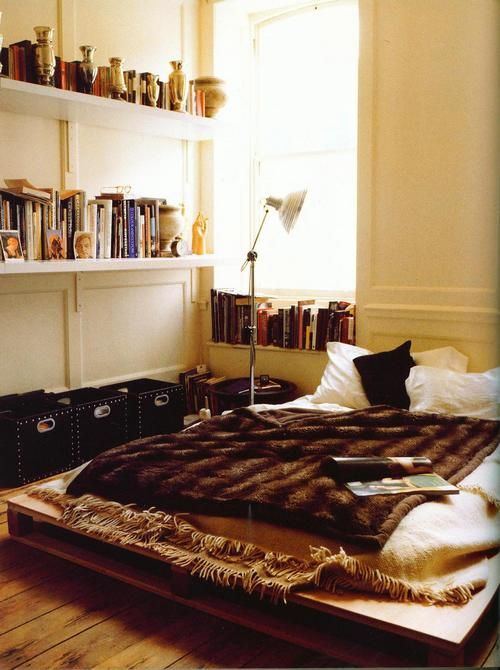 Bed frame; photos from 'The Sensual Home' by Ilse Crawford