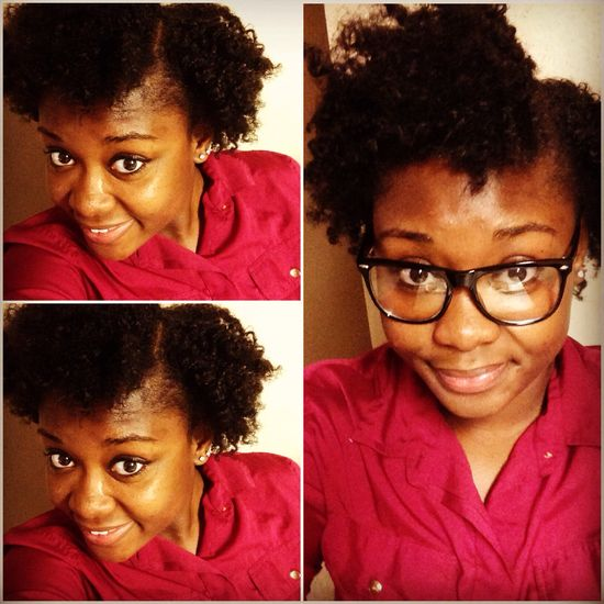 Simple Natural Hair Style