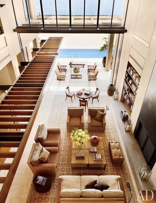 Beach House Living Room & Outdoor Living with an amazing View!