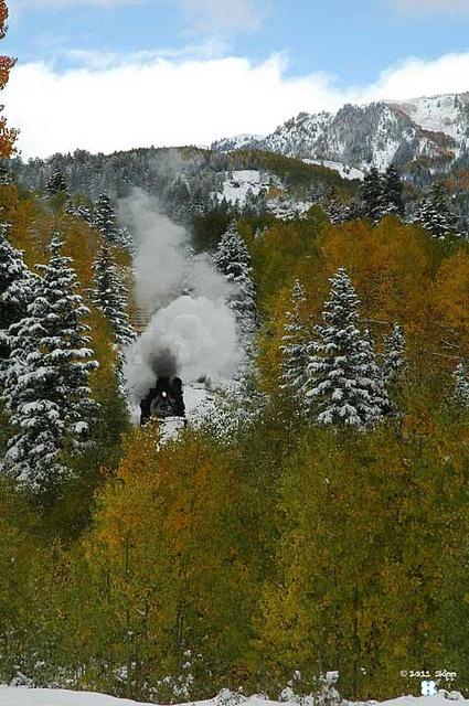 Train Chama from Cumbres Pass  Cumbres Toltec Scenic Railroad