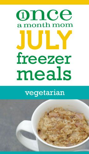 Freezer vegetarian menu. Grocery lists, step-by-step instructions and more.