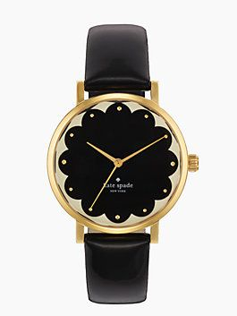 kate spade black and gold watch