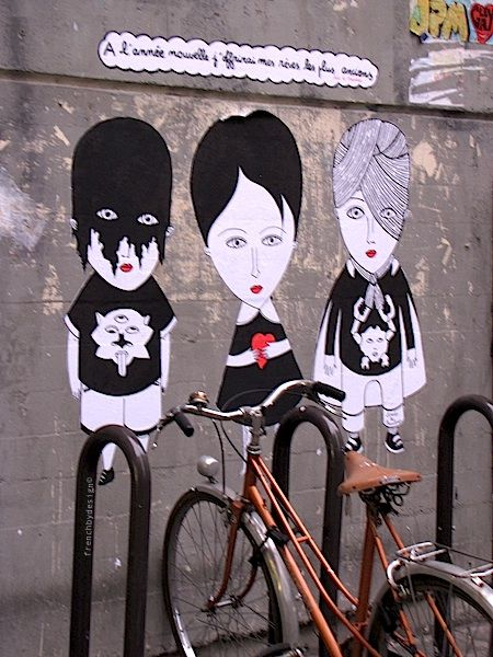 Street graffiti. Rue St Merri, Paris 4eme.