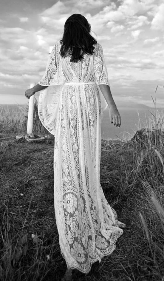 Obsessed. lace bohemian wedding dress. wedding dress. lace.
