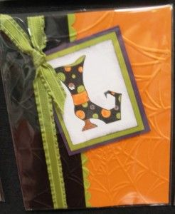 Handmade Halloween card using Bootiful Occasions stamp set from Stampin' Up!