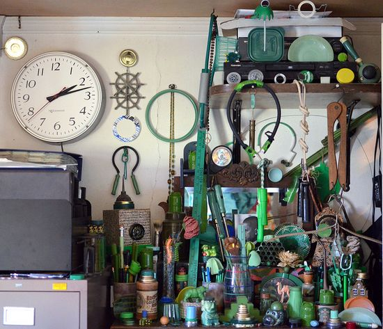 Eli Leon's green collections - 00 by daintytime, via Flickr