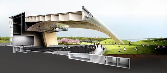 Competition Finalist for the Tripode, Amphithéâtre de Tois-Rivières by Sid Lee Architecture and Régis Côté et associés