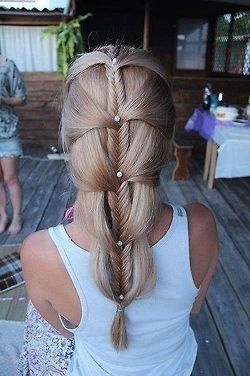 ? Hair Styles and Hair Fashion ? / Creative braided  hair style I would love to learn how to do.  Click here and checkout hot offer www.hairstylehowt...    #hair #color #style #hairstyle #haircolor #women #girl #beautiful #colorful #trend