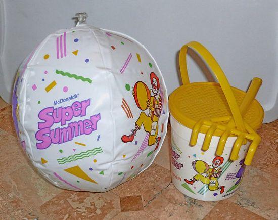Vintage McDonalds Super Summer Happy Meal Toys 1987