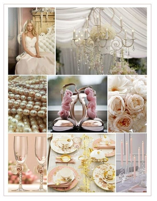 soft romantic wedding colors by angelia