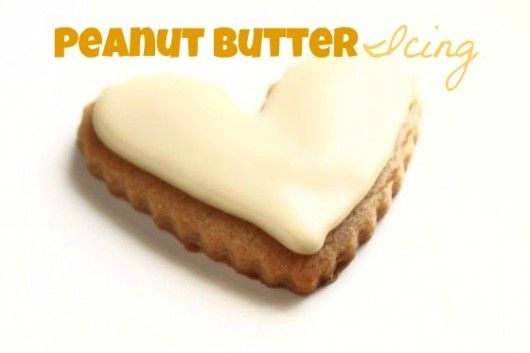 peanut butter Icing Peanut butter cookies