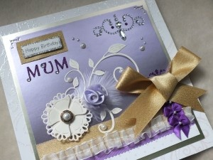 Mum's Birthday Luxury Handmade Card