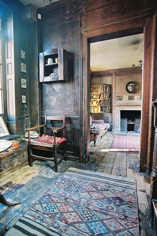 Lovely old paneled rooms